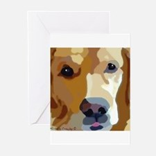 Funny Golden retriever birthday Greeting Cards (Pk of 10)
