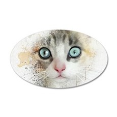 Kitten Painting Wall Decal