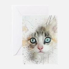Kitten Painting Greeting Cards