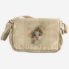 Kitten Painting Messenger Bag