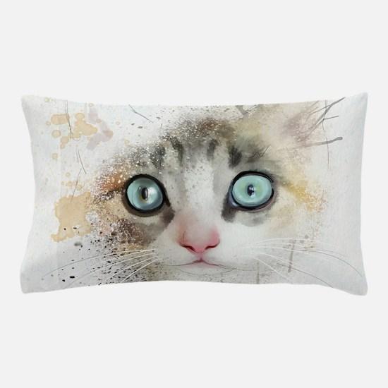 Kitten Painting Pillow Case