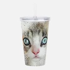 Kitten Painting Acrylic Double-wall Tumbler