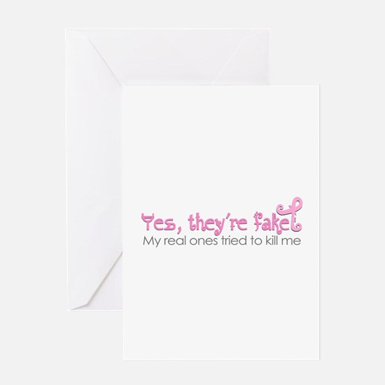 Yes, Theyre fake.... Greeting Cards