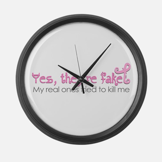Yes, Theyre fake.... Large Wall Clock