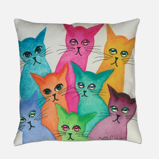 Cute Cat eyes Everyday Pillow