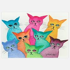 Cute Kitty cat purr pets kitten Wall Art