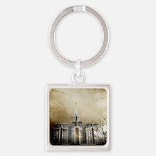 Unique Mormon Square Keychain