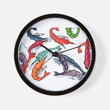 shrimp party Wall Clock