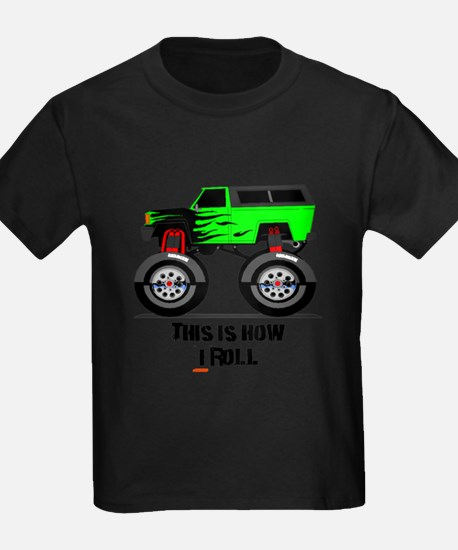 Cute Birthday boy monster trucks T
