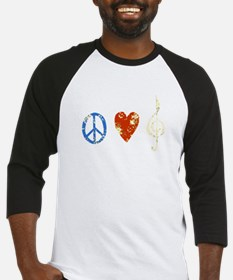 Funny Peace love music Baseball Jersey