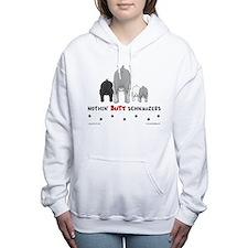 Funny Standard schnauzer Women's Hooded Sweatshirt