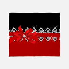 Diamond Delilah (Red) Throw Blanket
