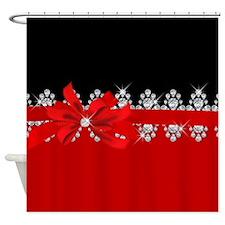 Diamond Delilah (Red) Shower Curtain