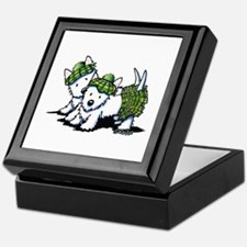 KiniArt Westie Kilted Duo Keepsake Box