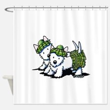 KiniArt Westie Kilted Duo Shower Curtain