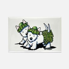 KiniArt Westie Kilted Duo Rectangle Magnet