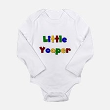 Cute Upper peninsula of michigan Long Sleeve Infant Bodysuit