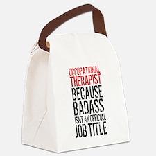 Badass Occupational Therapist Canvas Lunch Bag