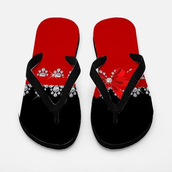 Diamond Delilah (Red) Flip Flops