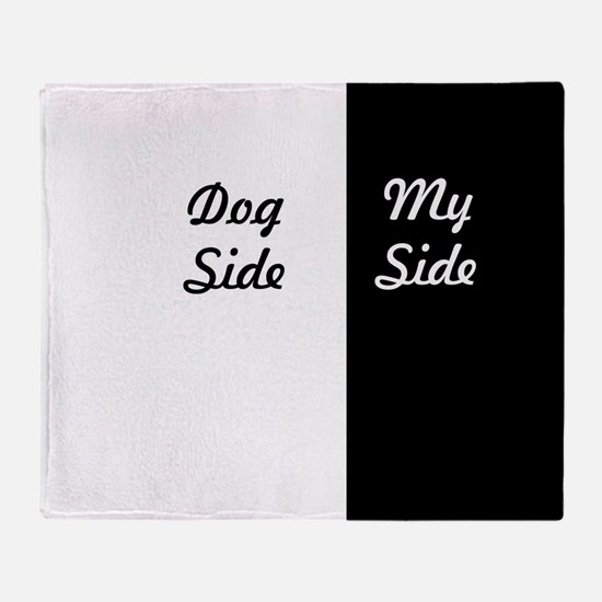 dog side Throw Blanket