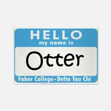 Cute Hello name tag Rectangle Magnet