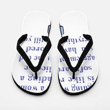 arguing woman Flip Flops