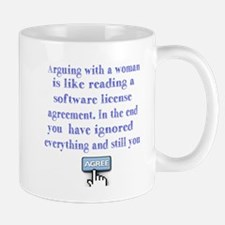 arguing woman Mugs