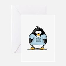 Proud Poppa penguin Greeting Card