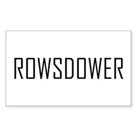 Rowsdower Rectangle Sticker