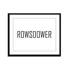 Rowsdower Framed Panel Print