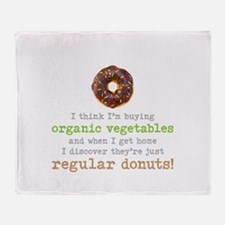 Organic Donuts - Throw Blanket