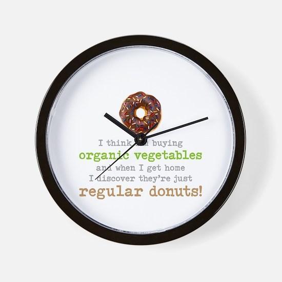 Organic Donuts - Wall Clock