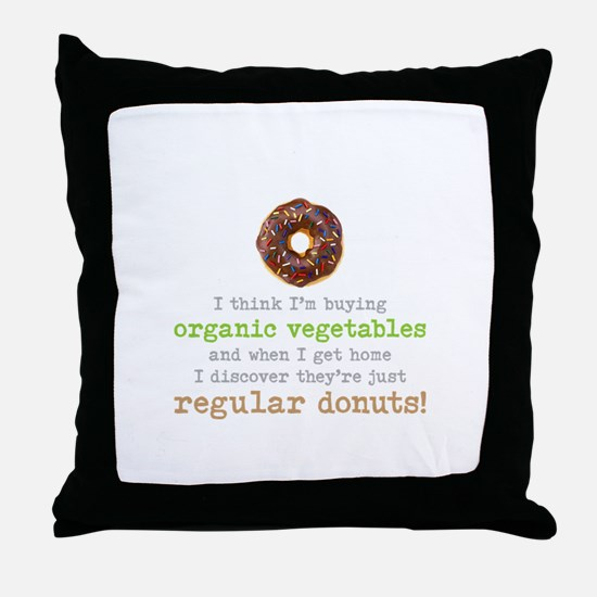 Organic Donuts - Throw Pillow