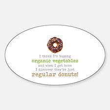 Organic Donuts - Sticker (Oval)
