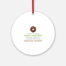 Organic Donuts - Round Ornament