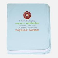 Organic Donuts - baby blanket