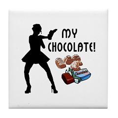 My Chocolate Tile Coaster