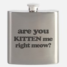 Are You Kitten Me Right Meow Flask