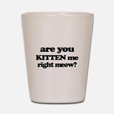 Are You Kitten Me Right Meow Shot Glass