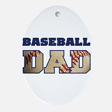 baseball dad Oval Ornament