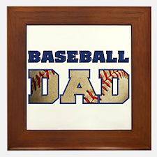 baseball dad Framed Tile
