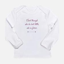 Cool She is fierce Long Sleeve Infant T-Shirt