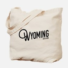 Wyoming Script Tote Bag
