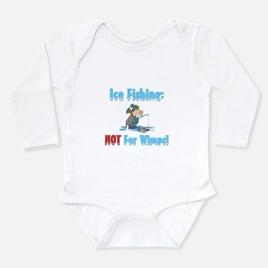 Cool Ice fishing Long Sleeve Infant Bodysuit