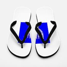 Blue Menorah OMG Hanukkah 4 Hannah Flip Flops
