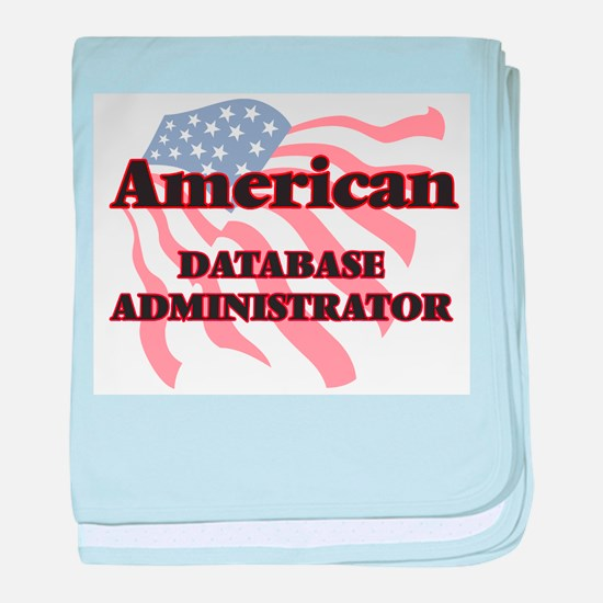 American Database Administrator baby blanket