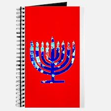 Red Vibrant Menorah Hanukkah Jason's Fave Journal