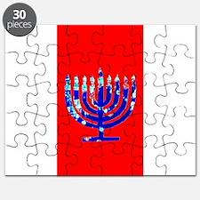 Red Vibrant Menorah Hanukkah Jason's Fave Puzzle
