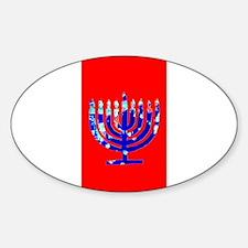 Red Vibrant Menorah Hanukkah Jason's Fave Decal
