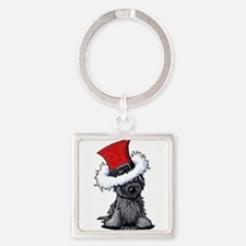 Christmas Cairn Square Keychain